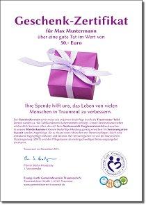 Geschenk-Zertifikat
